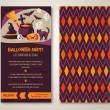 Halloween two sides poster or flyer.  — Stock Vector #52041595