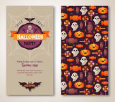 Halloween due lati poster o flyer. — Vettoriale Stock