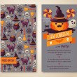 Halloween two sides poster or flyer. — Stock Vector #52550631