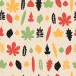 Seamless pattern with leaves. — Stock Vector #52550745