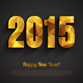 Happy New Year 2015 golden greeting card — Wektor stockowy