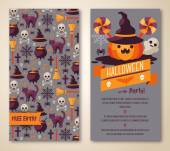 Halloween two sides poster or flyer. — Stockvektor