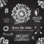 Wedding graphic set — 图库矢量图片
