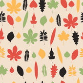 Patrones sin fisuras con hojas. — Vector de stock