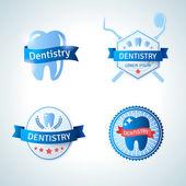 Dental emblem collection.  — Stock Vector