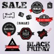 Abstract Black Friday labels and tags on a white background. — Stock Vector #53839821