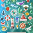 Nautical design elements — Stock Vector #53839971