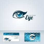 Woman eye vector logo design template. — Vetorial Stock