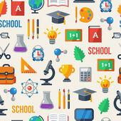 Back to school seamless pattern. Vector illustration. — Stock Vector