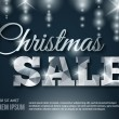 Glowing Christmas Sale banner. Vector illustration. — Vetor de Stock  #54966881