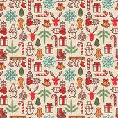 Christmas background, seamless tiling. Vector illustration. — Stock Vector