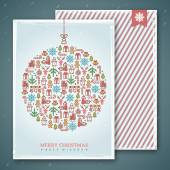 Christmas cards design. Vector illustration. New year greetings. — Wektor stockowy