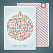 Christmas cards design. Vector illustration. New year greetings. — Stok Vektör