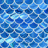 Oil painted seamless pattern. Scallop background. — Stock Vector