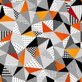 Triangle seamless pattern. Vector illustration. — Stock Vector