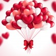 Valentines day background with heart balloons. — Vector de stock  #60898785