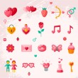 Valentines day icons elements collection. — Stock Vector #60899829
