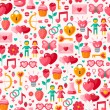 Cute Valentine seamless pattern. — Stock Vector #60899877