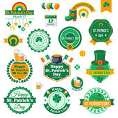 Set of Typographic Saint Patricks Day Labels Design. — Stock Vector