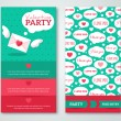 Beautiful greeting or invitation cards with speech bubbles pattern. — Stock Vector #62253491