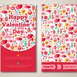 Set Of Happy Valentines Day Greeting Card or Flyer. — Stock Vector #62253515