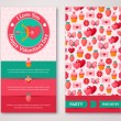 Set Of Happy Valentines Day Greeting Card or Flyer. — Vetor de Stock  #62253603