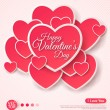 Happy Valentines Day Greeting Card. — Stock Vector #62253983