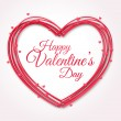Happy Valentines Day Greeting Card. — Vector de stock  #62254531