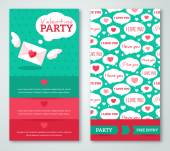 Beautiful greeting or invitation cards with speech bubbles pattern. — Stock vektor