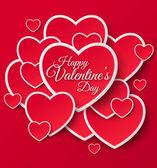 Happy Valentinstag-Grußkarte. — Stockvektor