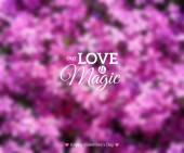 Abstract Glow Soft Flowers Background for Valentines Day Design. — Stock Vector