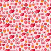 Cute Valentine seamless vintage pattern. — Stock Vector