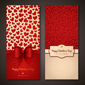 Happy Valentines Day greeting cards. — Stock Vector