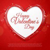 Feliz día de san valentín tarjeta de felicitación. — Vector de stock