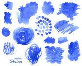 Set of textured brush strokes. Vector illustration. — Stock Vector