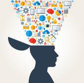 Creative concept of Business Development. Vector illustration. — Stock Vector
