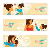 Happy Mothers Day Banners. Vector illustration. — Stock Vector