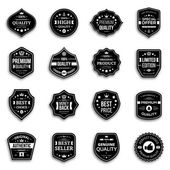 Set of retro style premium quality badges and labels with shadow. — Stockvektor