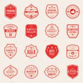 Collection of Premium and High Quality labels. — Stock Vector