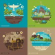 Ecology, environment, green energy and pollution.  Save world. Save the planet. Save the Earth. Creative concept of Eco Technology. — Stock Vector #73235773