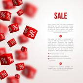 Sale cubes poster. Vector illustration.  — Stock Vector