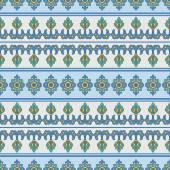Mediterranean Traditional Floral Decor.  — Vetor de Stock