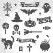 Set of Halloween ribbons and characters. — Stock Vector #78680370
