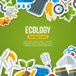 Ecology Background with Environment and Green Energy Flat Icons. — Stock Vector #78686176