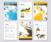 Set of Vector Poster Templates with Paint Splash. — Stock Vector