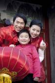 Family Celebrates Chinese New Year — Stock Photo