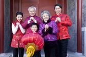 Family Celebrates Chinese New Year — Stock Photo