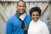 Portrait of the Couple smiling — Stock Photo