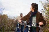 Coppie africane in bicicletta — Foto Stock