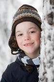 Ritratto del ragazzo che porta un cappello — Foto Stock